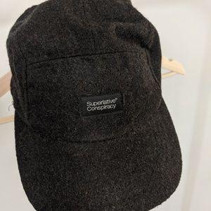 Superlative Conspiracy Dark Grey Wool 5-panel Hat